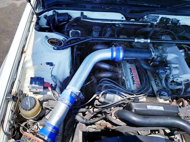 1G-GE ENGINE with MIZUNO WORKS EXHAUST MANIFOLD.