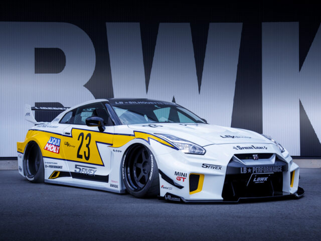 FRONT EXTERIOR OF LB-SILHOUETTE R35 GT-R.