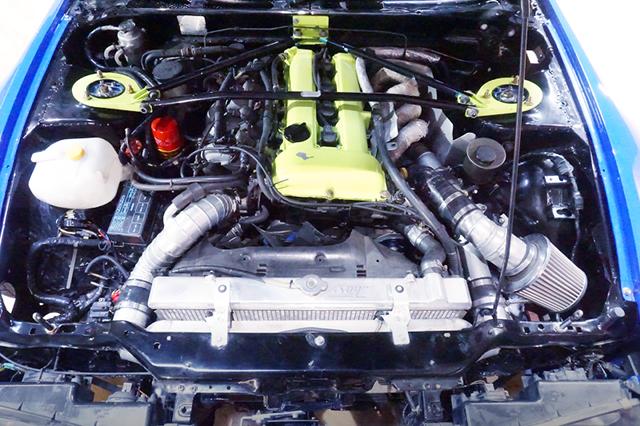 SR20DET TURBO ENGINE with HKS GT3-RS TURBINE.