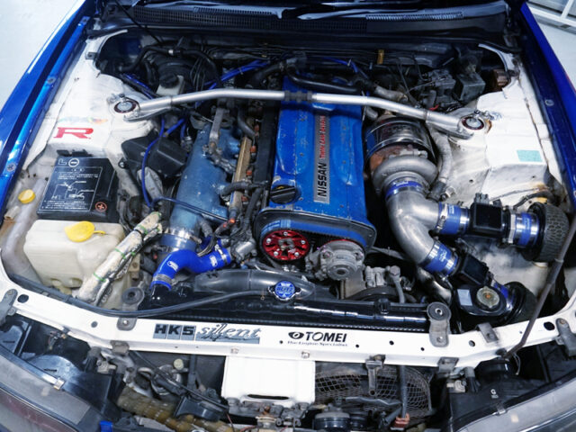 RB26 ENGINE with HKS TO4R SINGLE TURBO.