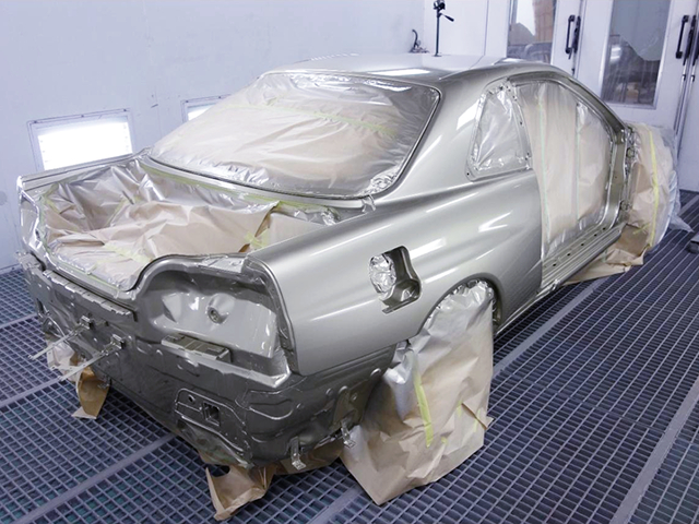R34 GT-R BODY REPAINT.