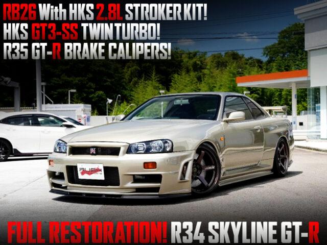 FULL RESTORATION of R34 SKYLINE GT-R.