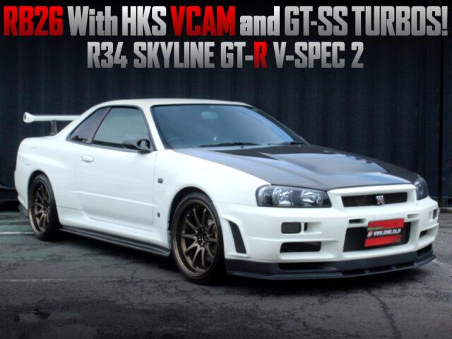 HKS GT-SS TWIN TURBOCHARGED R34 SKYLINE GT-R V-SPEC2.