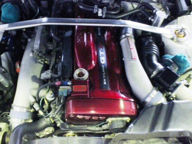 RB26DETT with HKS VCAM and HKS GT-SS TURBOS.