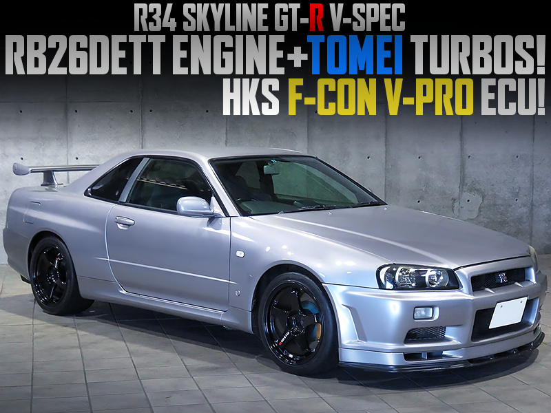 RB26 With TOMEI TURBOS and F-CON V-PRO ECU into R34 GT-R V-SPEC.