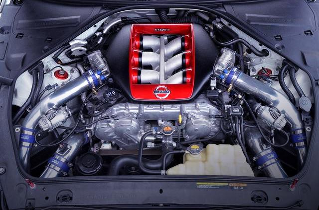 MCR BUILT VR38DETT ENGINE with HKS GT1000 TURBINE KIT.