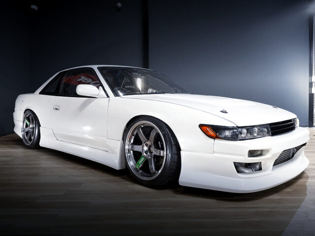 FRONT EXTERIOR OF S13 SILVIA Ks to PEARL WHITE.