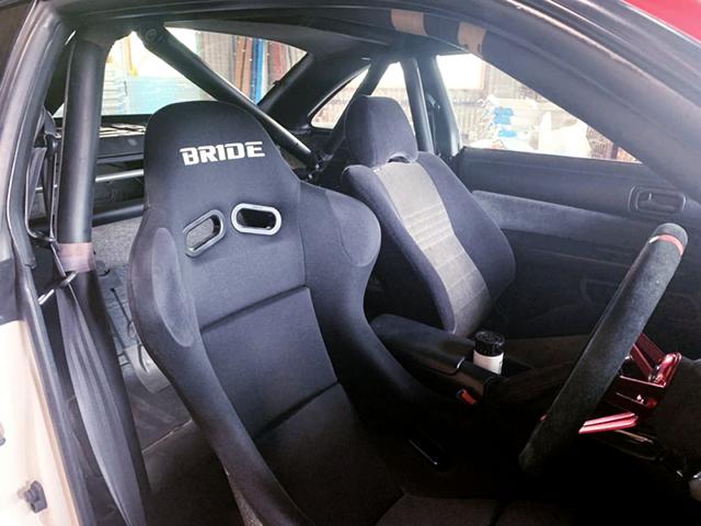 DRIVER'S BRIDE FULL BUCKET SEAT SETUP to S14 SILVIA Ks INTERIOR.