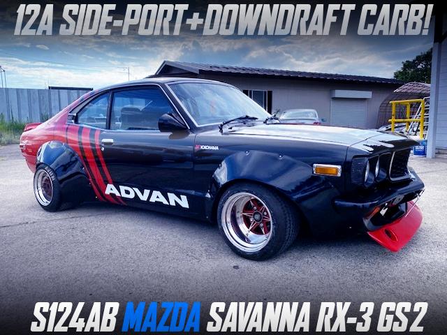 12A SIDE-PORT DOWNDRAFT CARB into S124AB MAZDA SAVANNA RX-3 GS2