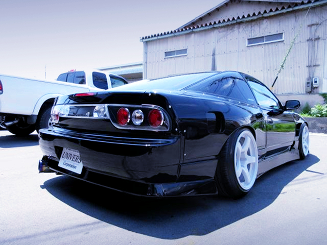REAR EXTERIOR OF 180SX TYPE-X to SILEIGHTY CONVERSION.