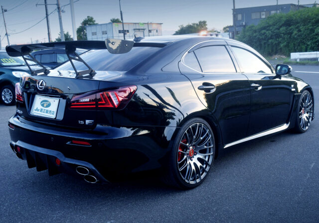 REAR EXTERIOR OF USE20 LEXUS IS F.