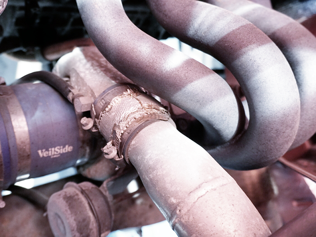 HKS GT2835 TURBINE and EXHAUST MANIFOLD.