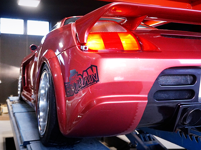 REAR LEFT-SIDE EXTERIOR OF ZZW30 MR-S FORTUNE 01 WIDEBODY.