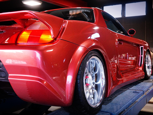 REAR RIGHT-SIDE EXTERIOR OF ZZW30 MR-S FORTUNE 01 WIDEBODY.
