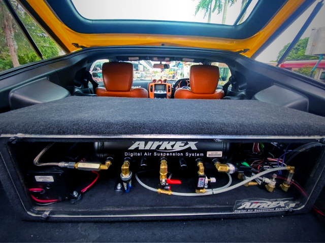 AiR REX AIR SUSPENSION SYSTEM of LUGGAGE SPACE.