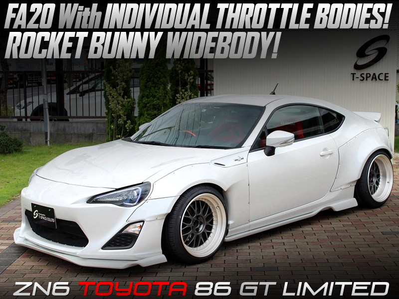 FA20 with ITB'S into TOYOTA 86 GT LIMITED.