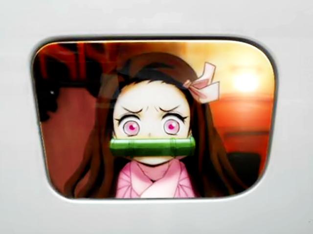Nezuko Kamado AIRBRUSHED FUEL DOOR.