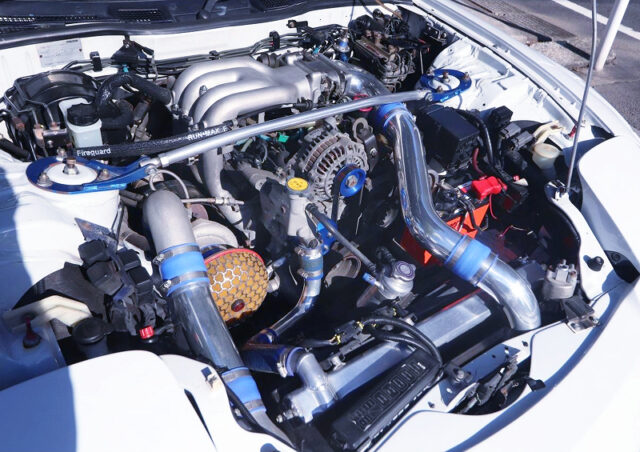 13B SIDE PORT ENGINE With TO4S SINGLE TURBO.
