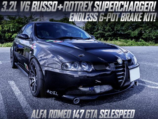 ROTREX SUPERCHARGED 3.2L V6 BUSSO into ALFA ROMEO 147 GTA SELESPEED.