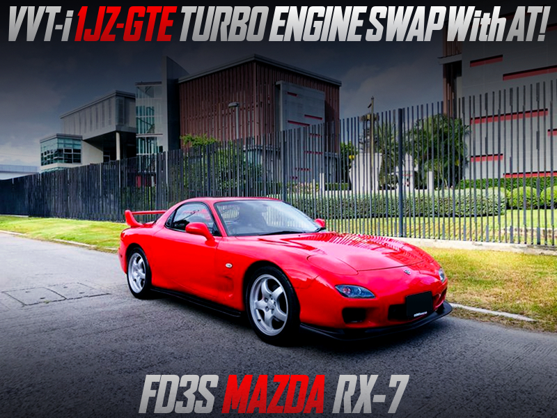 VVTi 1JZ-GTE TURBO ENGINE and AT CONVERSION of FD3S RX-7.
