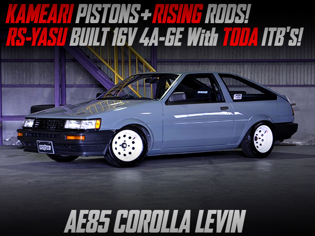 RS-YASU BUILT 4AGE With TODA ITBs MODIFIED into AE85 LEVIN.