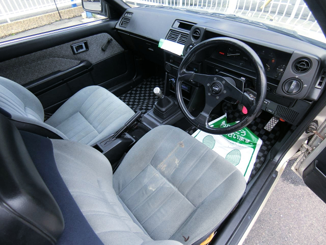 INTERIOR of AE85 LEVIN 2-DOOR 1500 LIME.