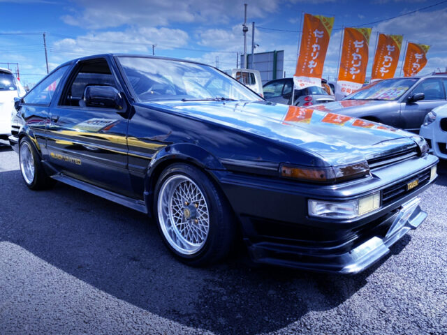FRONT EXTERIOR OF AE86 BLACK LIMITED.