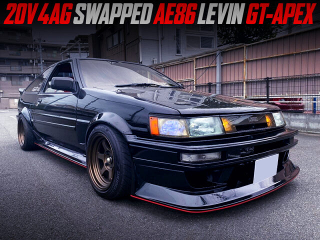 20V 4AGE ENGINE SWAPPED AE86 LEVIN GT-APEX.