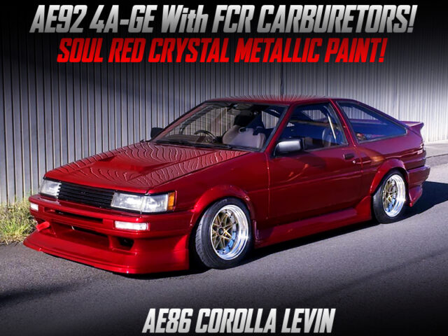 AE92 4AGE with FCR CARBS into AE86 LEVIN HATCHBACK.