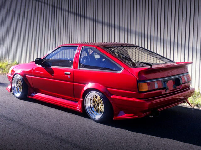 REAR EXTERIOR of AE86 LEVIN HATCHBACK.