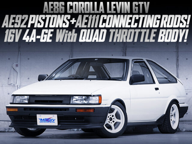 AE92 PISTONS and AE111 RODS into 16V 4AGE With ITBs modified AE86 LEVIN GTV.