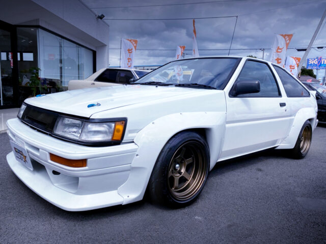 FRONT EXTERIOR of AE86 LEVIN N2 WIDEBODY.