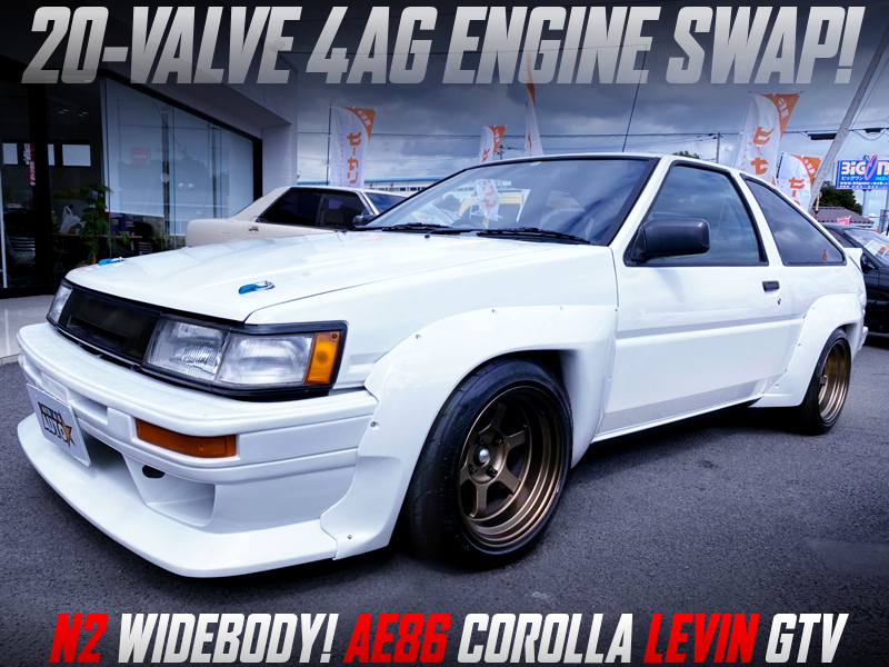 20V 4AG SWAP and N2 WIDEBODY MODIFIED AE86 LEVIN GTV.
