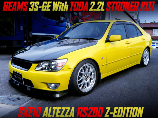 BEAMS 3S-GE with TODA 2.2L KIT into ALTEZZA RS200 Z-ED.