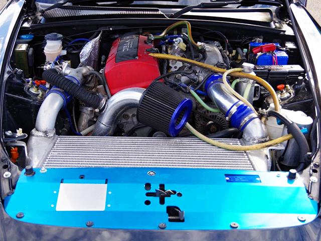 F20C VTEC ENGINE with TRUST TURBO KIT.