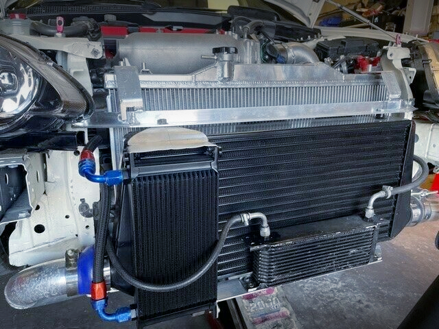 FRONT MOUNT INTERCOOLER and OIL COOLER.