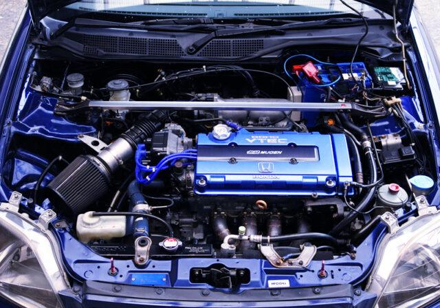 B18C VTEC ENGINE into EK4 CIVIC SiR ENGINE ROOM.