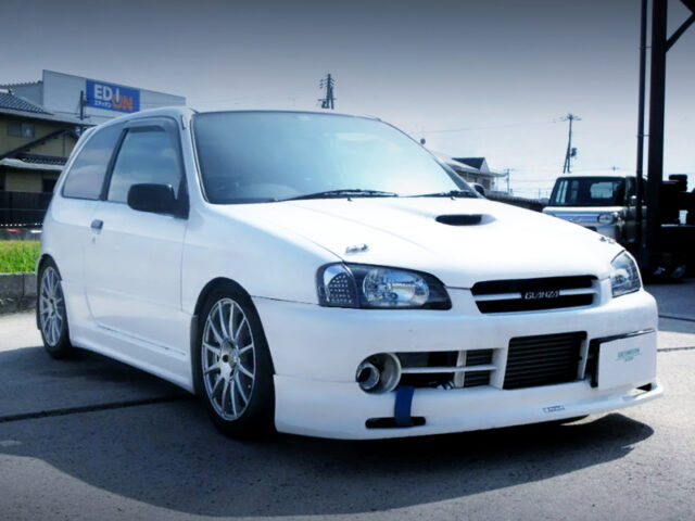 FRONT EXTERIOR of EP91 STARLET GLANZA V.