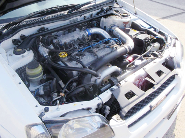 4E-FTE 1300cc TURBO ENGINE With AFTERMARKET TURBINE.