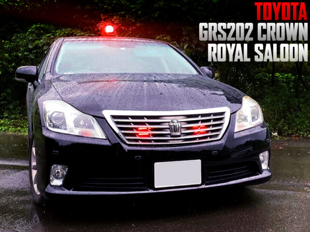 UNMARKED JAPAN POLICE CAR REPLICA BUILT of GRS202 CROWN.