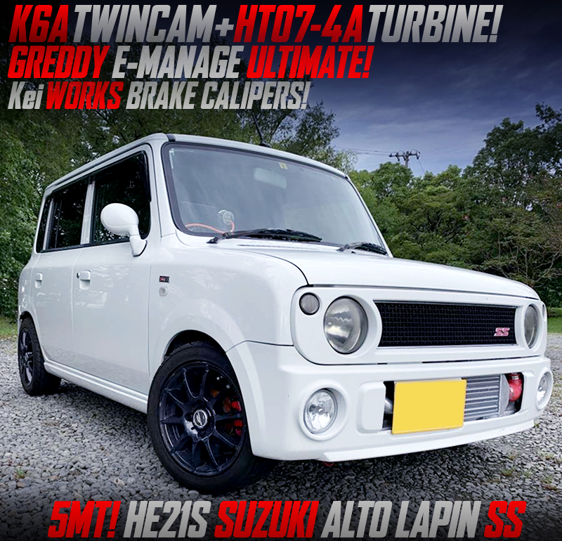K6A with HT07-4A TURBO and E-MANAGE ULTIMATE ECU into HE21S ALTO LAPIN SS.