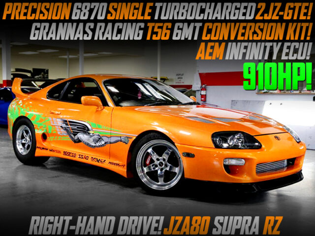 6870 SINGLE TURBO and T56 6MT SWAP MODIFIED JZA80 SUPRA RZ FAST FURIOUS STYLE.