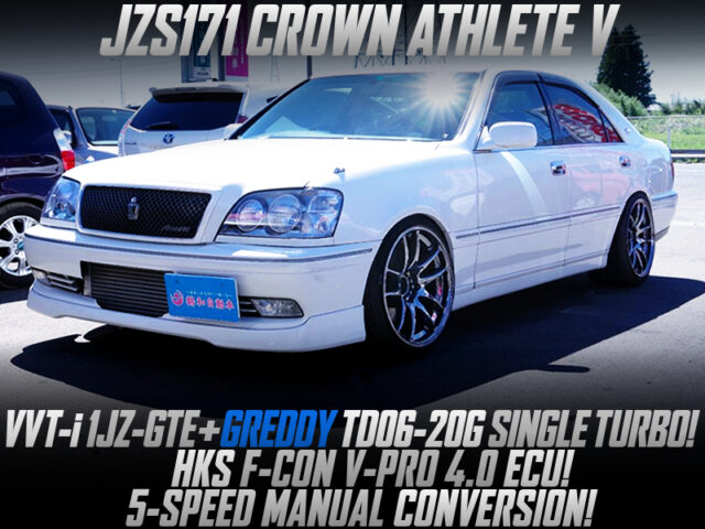 1JZ with TD06-20G TURBO and 5MT into JZS171 CROWN ATHLETE V.