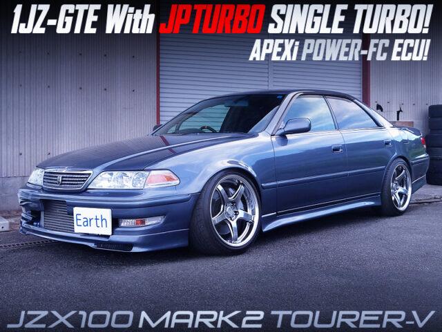 JPTURBO SINGLE TURBOCHARGED 1JZ-GTE into JZX100 MARK2 TOURER-V.