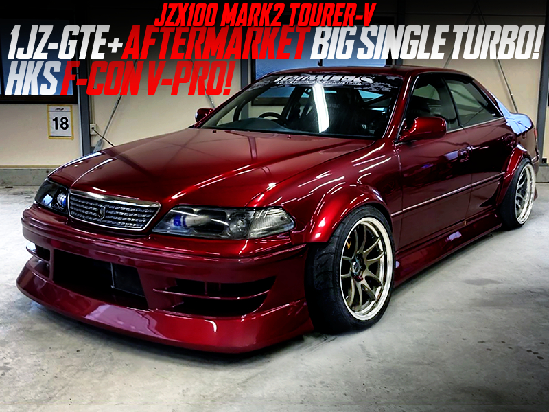 1JZ-GTE With AFTERMARKET BIG SINGLE TURBO and F-CON V-PRO into JZX100 MARK 2.