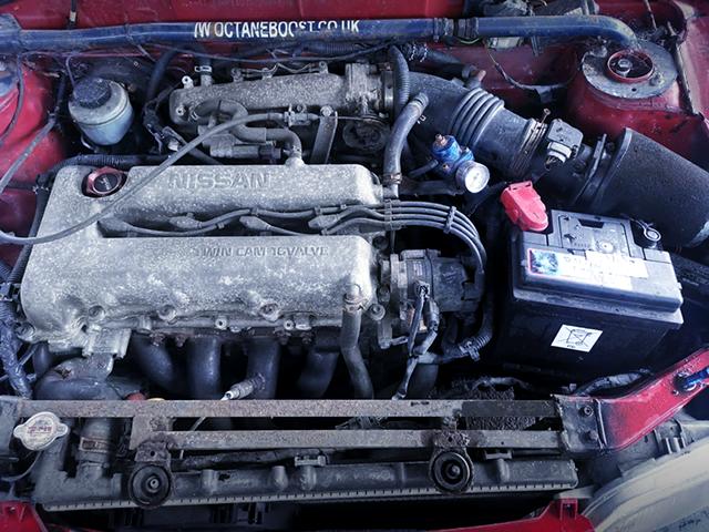 SR20DE 2000cc ENGINE into K11 MICRA ENGINE ROOM.