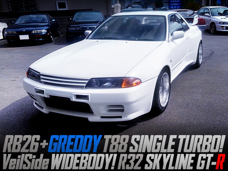VeilSide WIDEBODY and T88 SINGLE TURBO MODIFIED R32 GT-R.