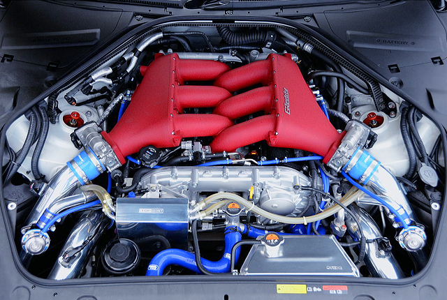 HKS PISTONS and RODS INSTALLED VR38DETT With TD06SH-20G 8cm TWIN TURBO.
