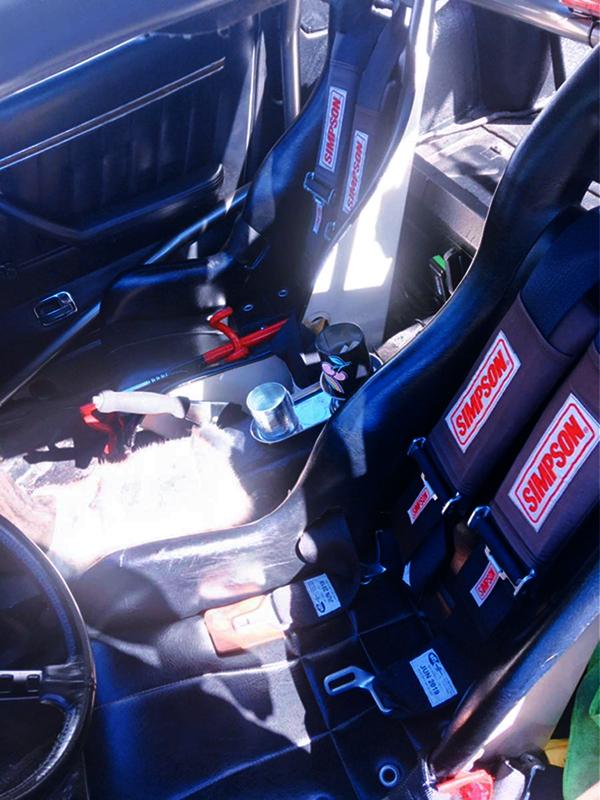 BUCKET SEATS of HLS30 DATSUN Z INTERIOR.