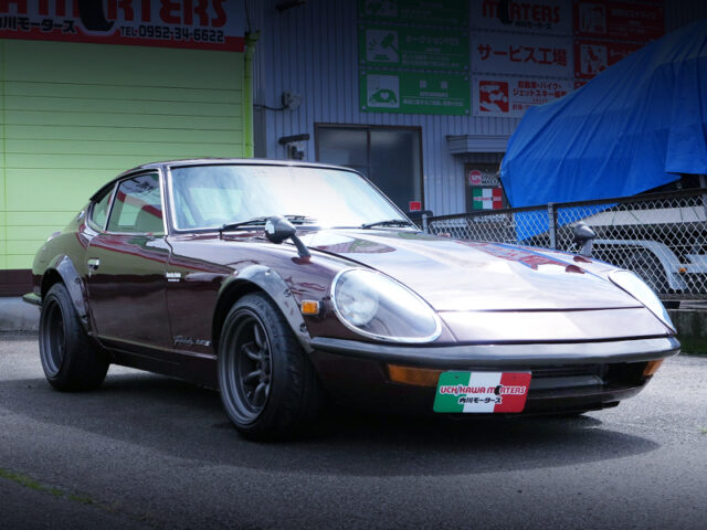 FRONT EXTERIOR of S30 FAIRLADY 240ZG MAROON.
